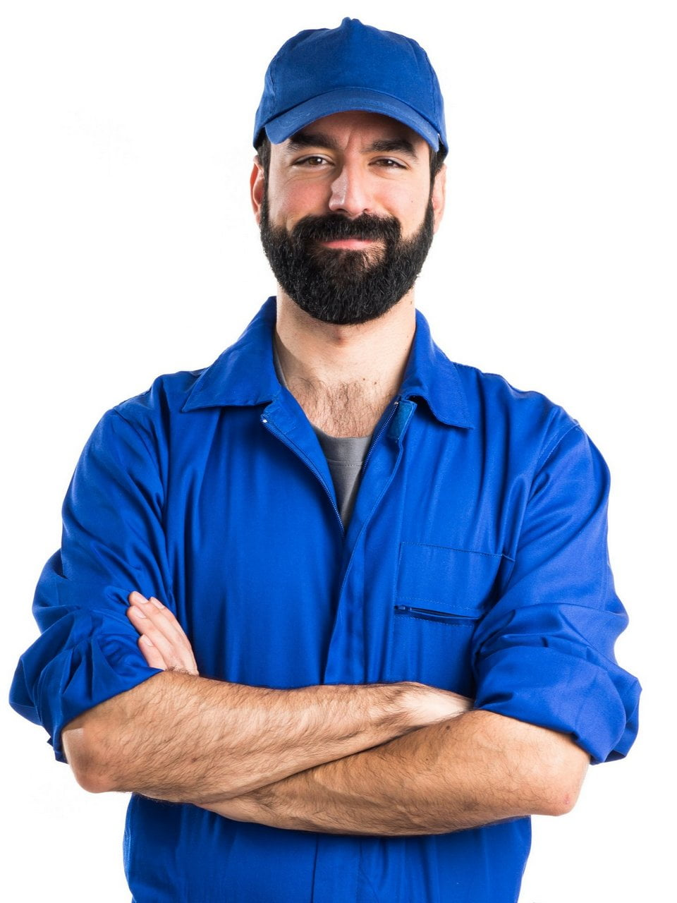 Plumber with his arms crossed